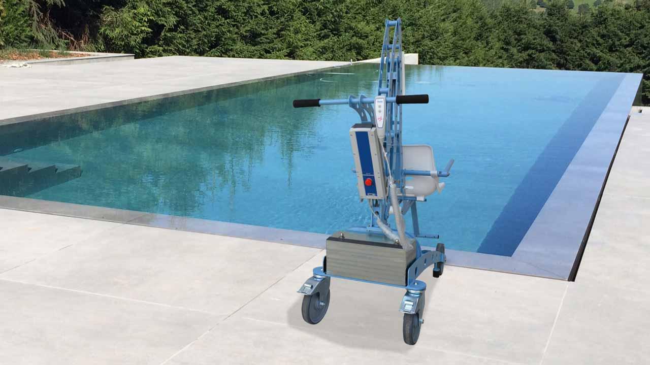 Location élévateur mobile pour piscine Écopool, pour PMR et handicapé