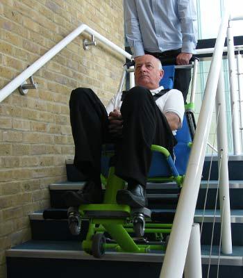 Location de chaise d'évacuation par escalier Excel pour pmr et personnes handicapées
