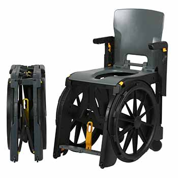 Location de fauteuil plastique pliant WheelAble, idéal pour déplacement pmr et handicapé