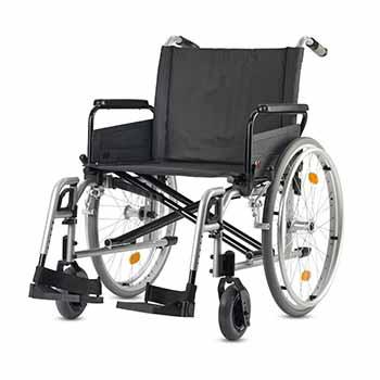 Fauteuil roulant manuel extra large XL, disponible à la location, pour vos déplacements touristiques ou professionnels