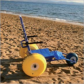 Location fauteuil de plage et mise à l'eau pour pmr et handicapé