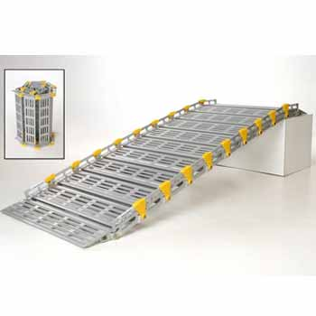 Louer une rampe d'accès pmr modulable en aluminium